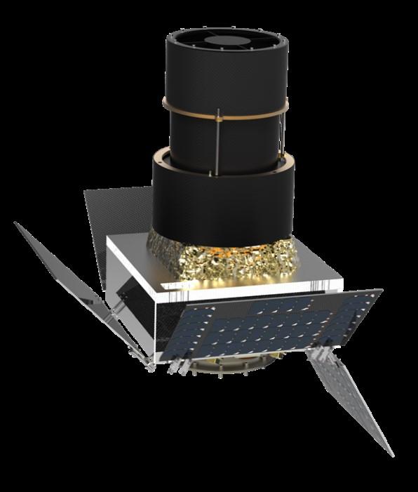 Nanosat with deployable telescope